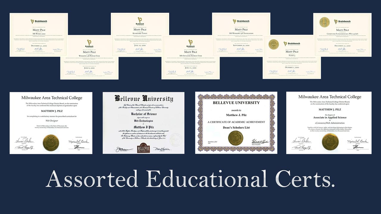 General Degrees and Certificates